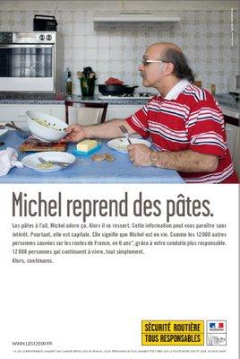 Michel reprend des pâtes – Sécurité routière